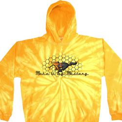 Mens Ford Hoodie Make It My Mustang Tie Dye Hoody