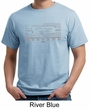 Mens Ford Mustang Shirt Honeycomb Grille Organic Tee T-Shirt