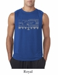 Mens Ford Mustang Shirt Honeycomb Grille Sleeveless Tee T-Shirt