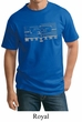 Mens Ford Mustang Shirt Honeycomb Grille Tall Tee T-Shirt