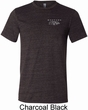Mens Ford Mustang with Grill Pocket Print Tri Blend Crewneck Shirt
