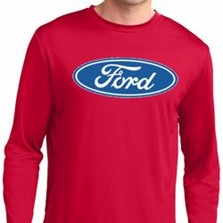 Mens Ford Oval Dry Wicking Long Sleeve Shirt