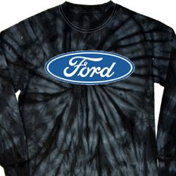 Mens Ford Oval Long Sleeve Tie Dye Shirt