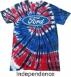 Mens Ford Oval Patriotic Tie Dye Shirt