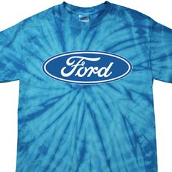 Mens Ford Oval Spider Tie Dye Shirt
