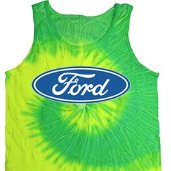Mens Ford Oval Tie Dye Tank Top