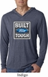 Mens Ford Shirt Built Ford Tough Lightweight Hoodie Tee T-Shirt