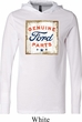 Mens Ford Shirt Distressed Genuine Ford Parts Lightweight Hoodie Tee
