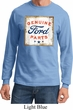 Mens Ford Shirt Distressed Genuine Ford Parts Long Sleeve Tee T-Shirt