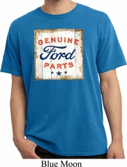 Mens Ford Shirt Distressed Genuine Ford Parts Pigment Dyed Tee T-Shirt