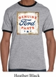 Mens Ford Shirt Distressed Genuine Ford Parts Ringer Tee T-Shirt