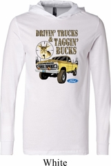 Mens Ford Shirt Driving and Tagging Bucks Lightweight Hoodie Tee