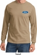 Mens Ford Shirt Ford Oval Pocket Print Long Sleeve Tee T-Shirt
