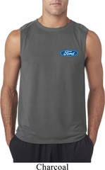 Mens Ford Shirt Ford Oval Pocket Print Sleeveless Tee T-Shirt