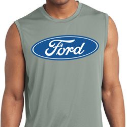 Mens Ford Shirt Ford Oval Sleeveless Moisture Wicking Tee T-Shirt