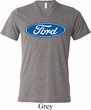 Mens Ford Shirt Ford Oval Tri Blend V-neck Tee T-Shirt