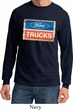 Mens Ford Shirt Ford Trucks Logo Long Sleeve Tee T-Shirt