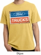 Mens Ford Shirt Ford Trucks Logo Pigment Dyed Tee T-Shirt