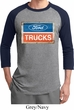 Mens Ford Shirt Ford Trucks Logo Raglan Tee T-Shirt