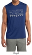Mens Ford Shirt Honeycomb Grille Sleeveless Moisture Wicking Tee