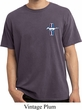 Mens Ford Shirt Legend Lives Pocket Print Pigment Dyed Tee T-Shirt