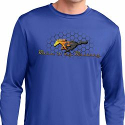 Mens Ford Shirt Make It My Mustang Dry Wicking Long Sleeve Shirt