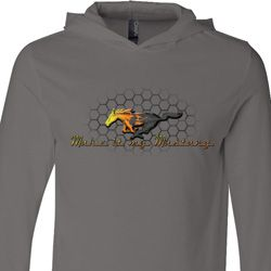 Mens Ford Shirt Make It My Mustang Lightweight Hoodie Tee