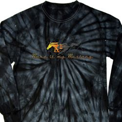 Mens Ford Shirt Make It My Mustang Long Sleeve Tie Dye Shirt