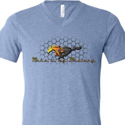 Mens Ford Shirt Make It My Mustang Tri Blend V-neck Shirt