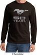 Mens Ford Shirt Mustang 50 Years Long Sleeve Tee T-Shirt