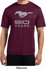 Mens Ford Shirt Mustang 50 Years Moisture Wicking Tee T-Shirt