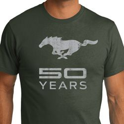 Mens Ford Shirt Mustang 50 Years Organic Tee T-Shirt