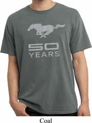 Mens Ford Shirt Mustang 50 Years Pigment Dyed Tee T-Shirt