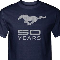Mens Ford Shirt Mustang 50 Years Tall Tee T-Shirt