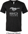 Mens Ford Shirt Mustang 50 Years Tri Blend V-neck Tee T-Shirt