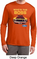 Mens Ford Shirt Mustang Who's The Boss Dry Wicking Long Sleeve Shirt