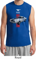 Mens Ford Shirt Red Stripe Mustang 50 Years Muscle Tee T-Shirt