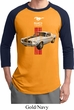 Mens Ford Shirt Red Stripe Mustang 50 Years Raglan Tee T-Shirt