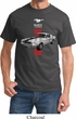 Mens Ford Shirt Red Stripe Mustang 50 Years Tee T-Shirt
