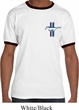 Mens Ford Shirt The Legend Lives Crest Pocket Print Ringer Tee T-Shirt
