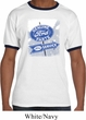 Mens Ford Shirt Vintage Sign Genuine Ford Parts Ringer Tee T-Shirt