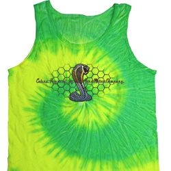 Mens Ford Tanktop Powered By Cobra Tie Dye Tank Top