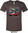 Mens Ford Tee Classic Mustangs Untamed Tri Blend V-neck