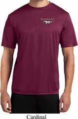 Mens Ford Tee Mustang Pocket Print Dry Wicking T-shirt