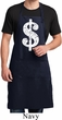 Mens Funny Apron Distressed Dollar Sign Full Length Apron with Pockets