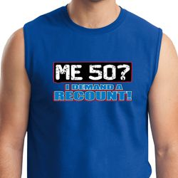 Mens Funny Birthday Shirt Me 50 Muscle Tee T-Shirt
