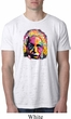 Mens Funny Shirt Albert Einstein Crest Pocket Print Burnout Tee T-Shirt