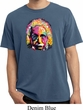 Mens Funny Shirt Albert Einstein Pigment Dyed Tee T-Shirt