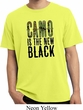 Mens Funny Shirt Camo is the New Black Pigment Dyed Tee T-Shirt