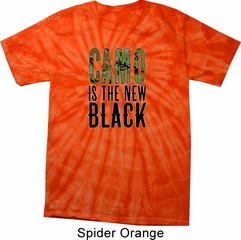 Mens Funny Shirt Camo is the New Black Spider Tie Dye Tee T-shirt